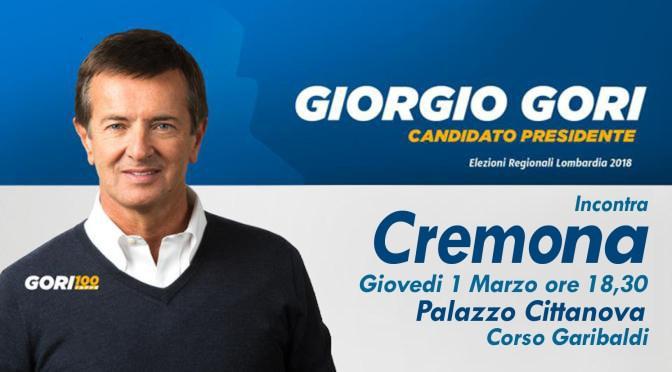 Giovedì 1 marzo Giorgio Gori a Cremona per la chiusura della campagne elettorale