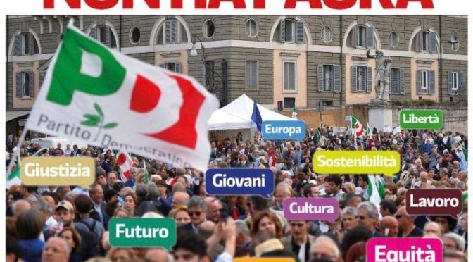 Manifestazione nazionale PD: domenica 30 settembre in treno a Roma