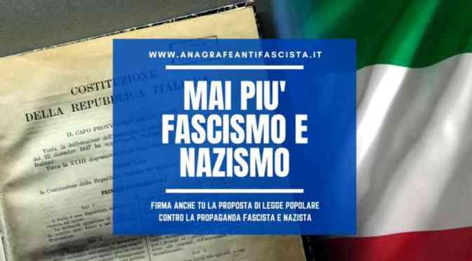 Raccolta firme per la proposta di legge contro la propaganda fascista