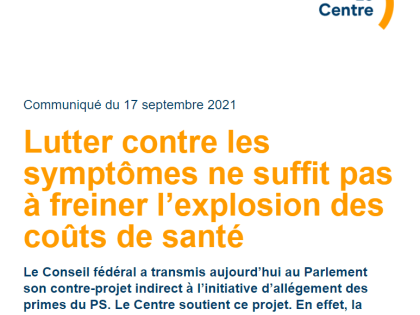 Le Centre Communiqué – 17.09.2021