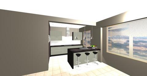 Virtuele Ontwerpen Van Mechelen Keuken Schoten Zicht Vanaf De Living Aangepast