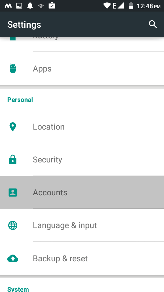 Configuring an Exchange ActiveSync account on Android