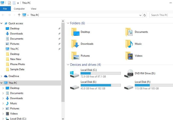 how to add a folder to this pc windows 10