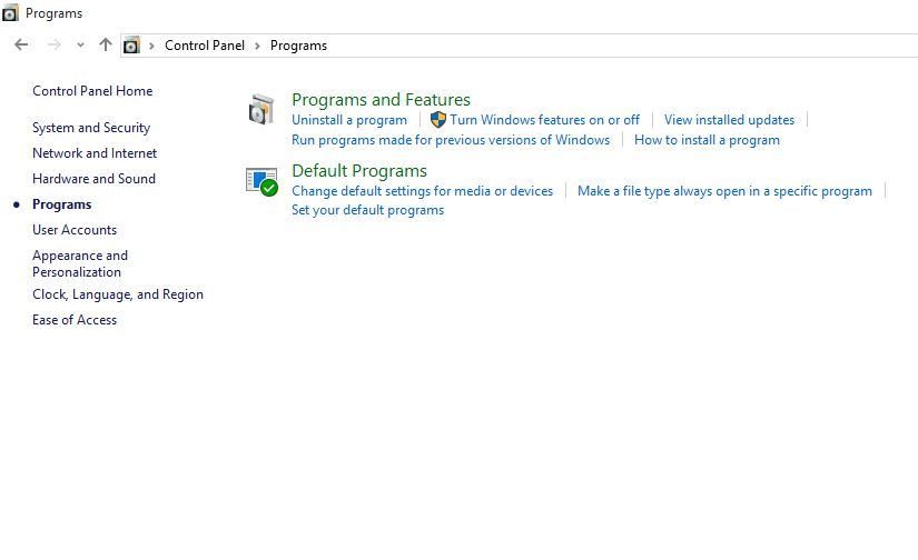 How to Uninstall Programs and Desktop Apps in Windows 10