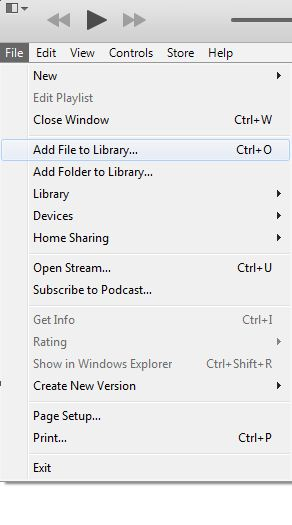 Add your music files folder to iTunes
