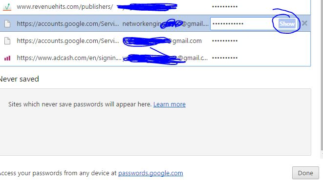 How to Manage Saved Password of Websites and Emails in Google Chrome