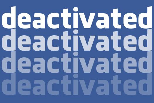 Temporary facebook deactivation