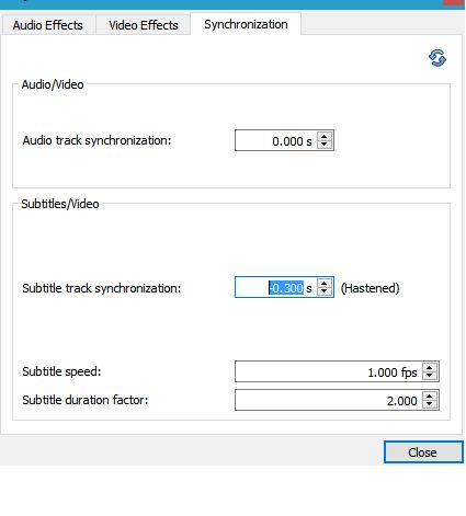 Adjust, delay, speedup Subtitle Speed in VLC Media Player