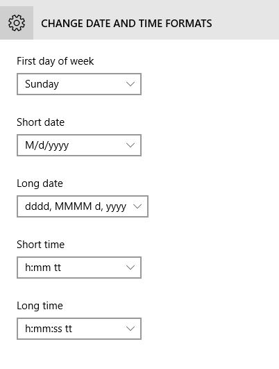 Change Date & Time Format in Windows 10 PC