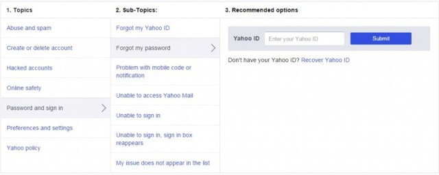 Change or reset your Yahoo password