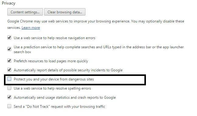 How to Disable Safe Browsing in Google Chrome for Desktop