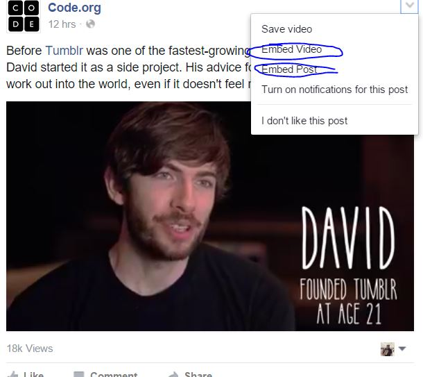 How to Embed Facebook Video on Your site