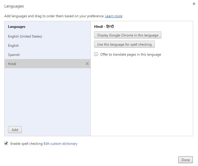 How to add Dictionaries to Google Chrome Spell Checker
