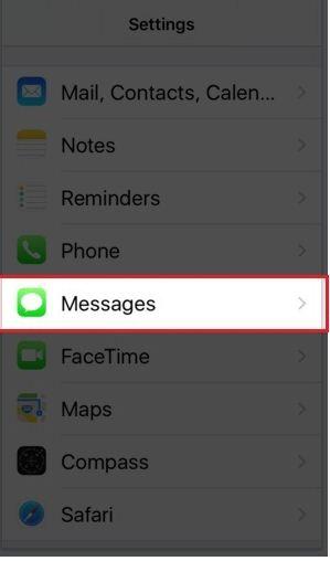 open message app in your iPhone