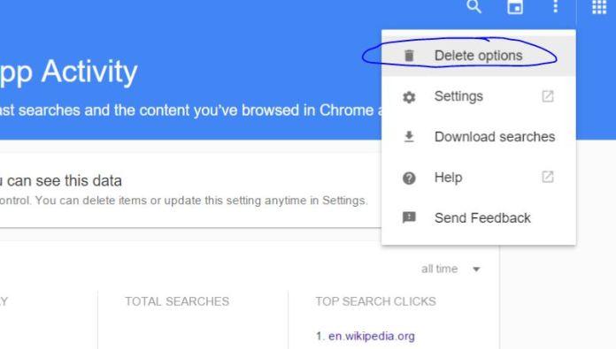 Delete Complete Search History