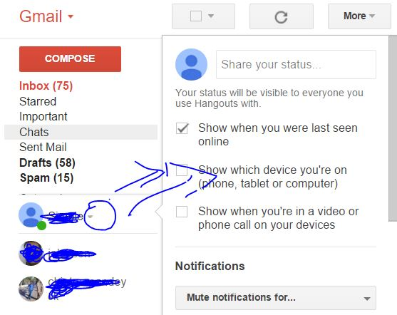How to Change Setting for Google Hangouts