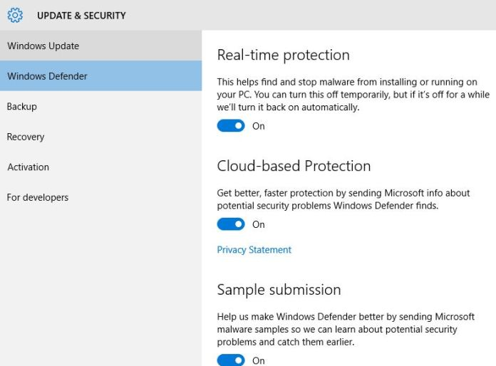 How to Enable Cloud based protection, real time protection with Windows 10 PC