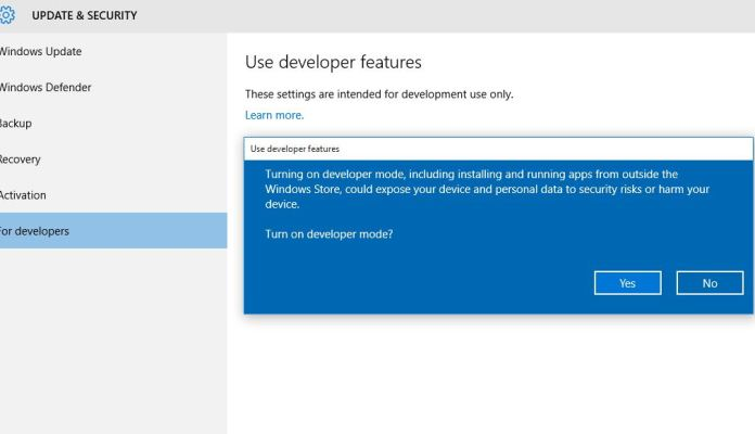 How to Enable Developers Mode in Windows 10 PC