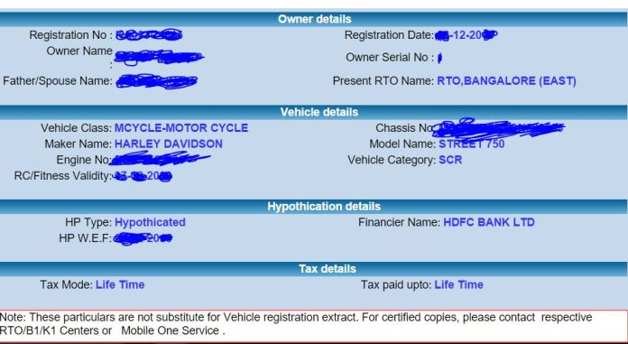 How to Get Vehicle Details Online By Giving Vehicle Number in Karnataka Bangalore