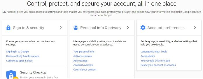 Delete Google Account - Sign in - Google Accounts