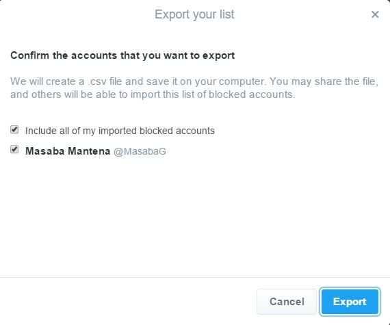 How to Manage Blocked users list from Twitter Account