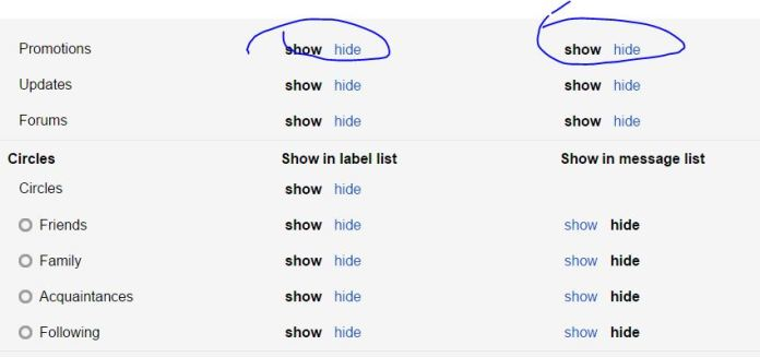 Manage Gmail Labels, add remove, hide, edit, show in Gmail account