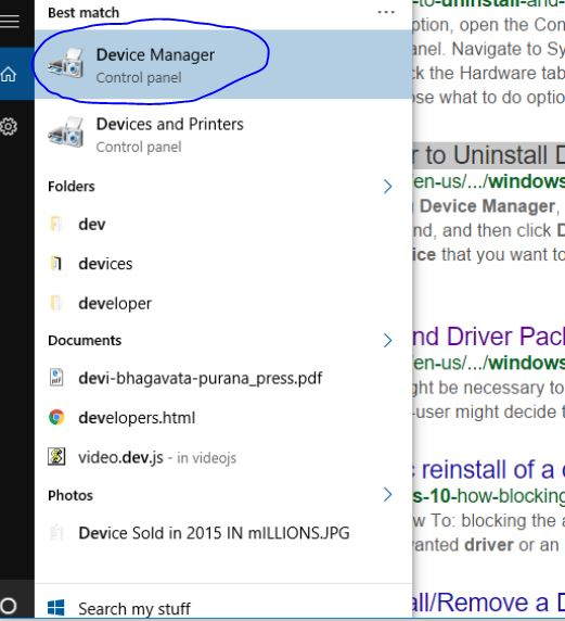Using Device Manager to Uninstall Devices and Driver from Windows 10 PC