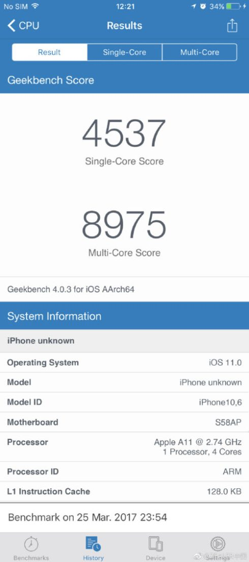 iPhone 8 Specifications Image