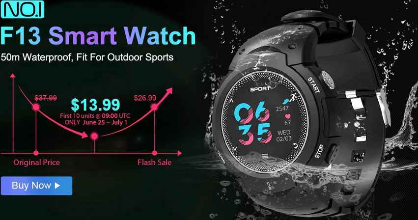 Buy NO.I F13 Smart Watch for Just $13.99