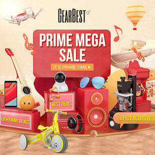GearBest Prime Mega Sale - Biggest Sale Ever Up to 75% discount