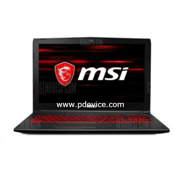MSI GV62 8RD-093CN Gaming Laptop Full Specification