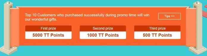 Win Prize from TomTop 2018