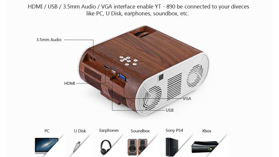 YT - 890 LCD Projector GearBest Coupon Code