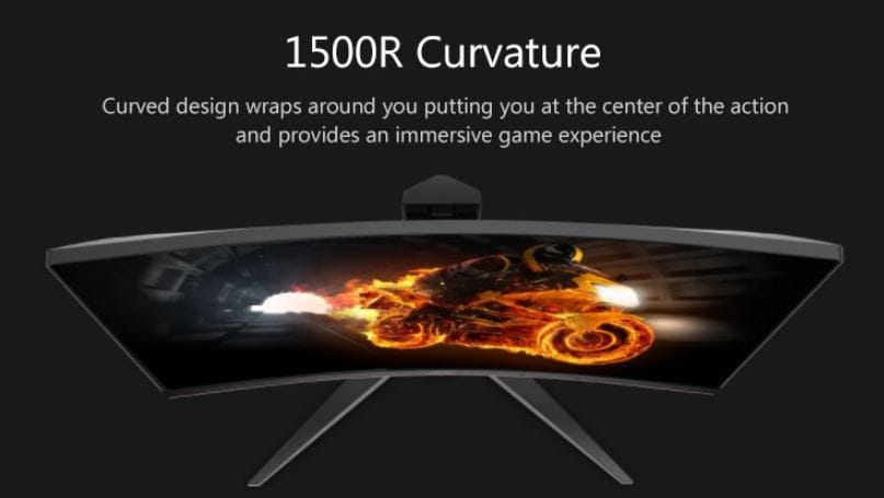 AOC C24G1 23.6 Inch Curved Frameless Monitor with $26 Promo Code (2)