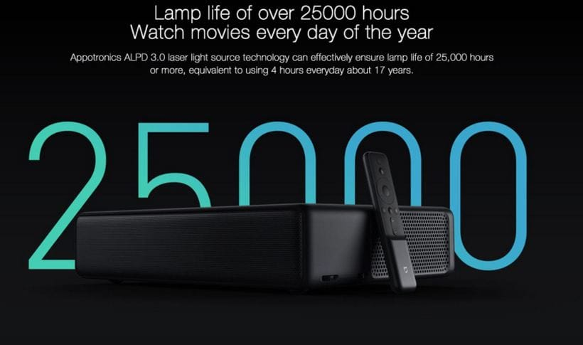 Xiaomi Mijia MJJGTYDS01FM 4K MIUI TV Laser Projector Banggood Promo Code $50