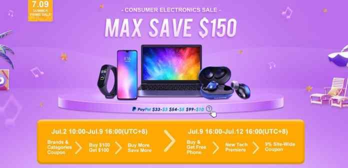 Banggod Summer Sale 2019 - $150 Off on Smartphone