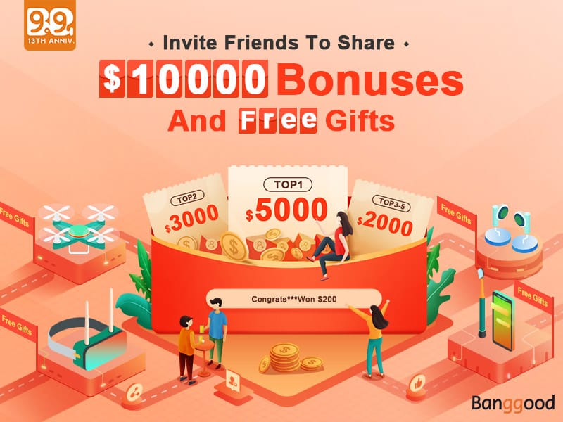 Banggood largest sales event Anniversary Sale 2019