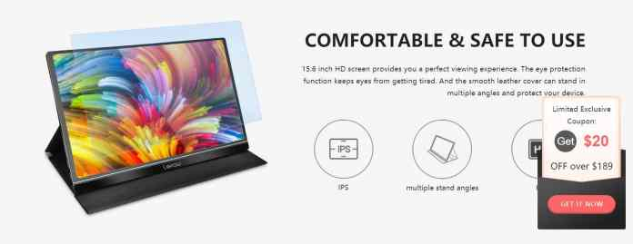Lepow Z1 15.6 inch Portable Computer Monitor Order Online with Discount