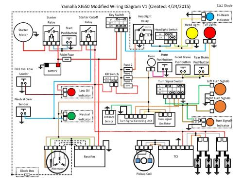 small resolution of xj650 modified wiring diagram v1 by cort lillard pdf archive rh pdf archive com headlight wiring