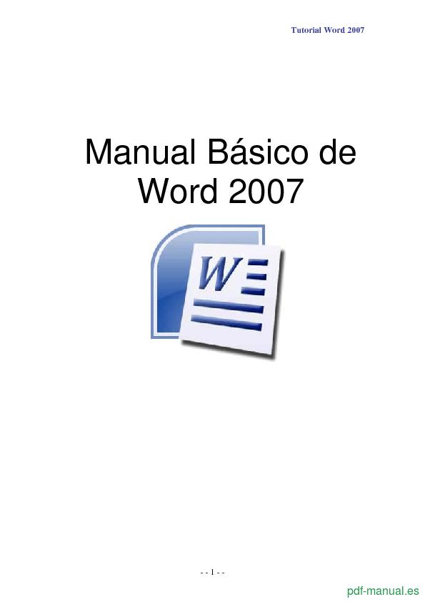 [PDF] Manual Básico de Word 2007 gratis curso