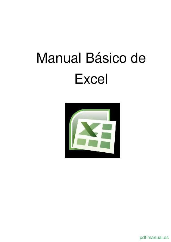 [PDF] Manual Básico de Excel gratis curso