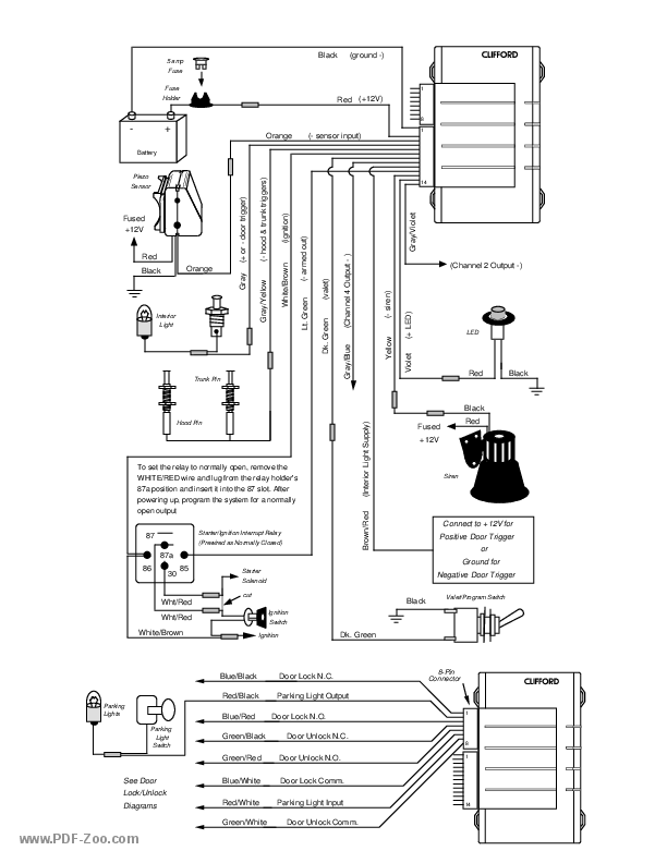 clifford 4105x wiring diagram