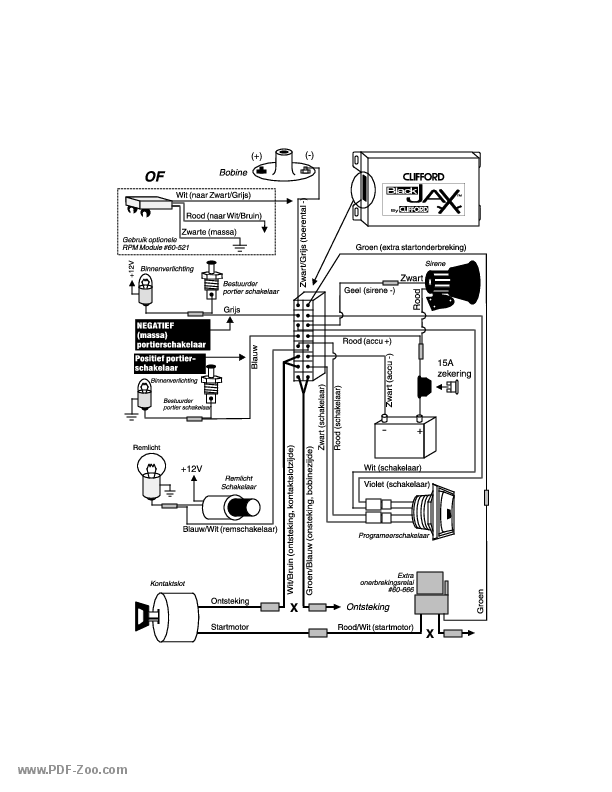 Clifford Arrow 3 Wiring Diagram
