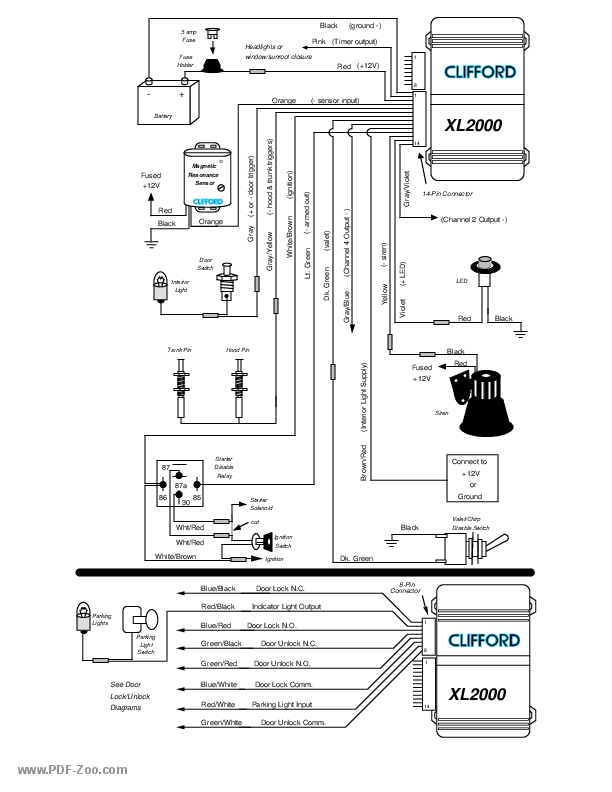 Clifford Electronics Wireless Immobilizer XL-2000 Wiring
