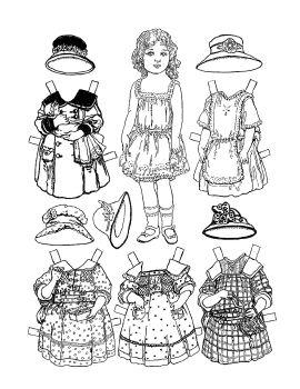 Dollies to Paint, Cutout & Dress