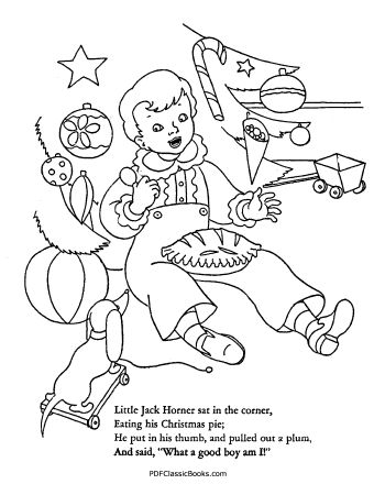 Mother Goose Cut-Out Coloring Book