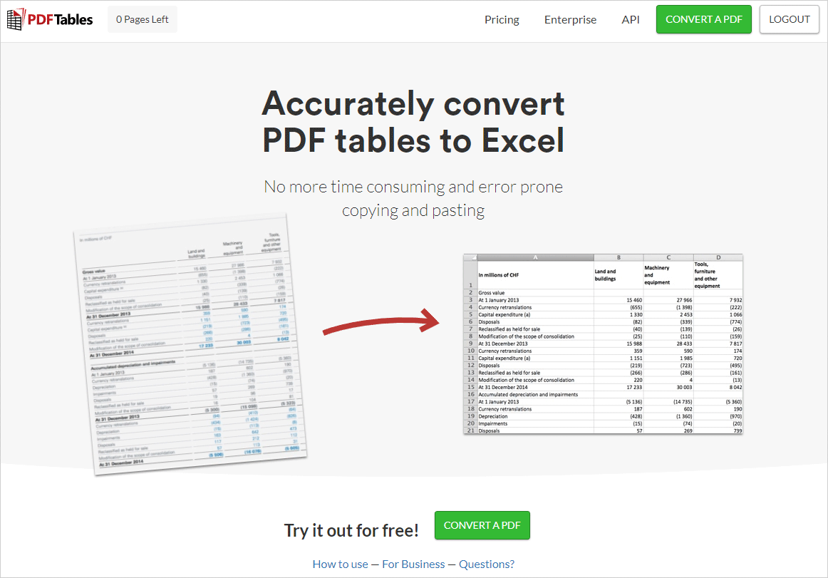 Top 10 Best Online To Excel Converters In