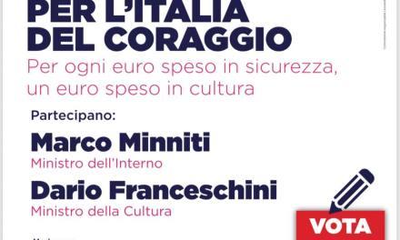 Cultura e sicurezza: Franceschini e Minniti a Ferrara