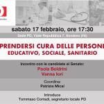 Prendersi cura delle persone: sabato 17 febbraio ore 17.30 a Bondeno
