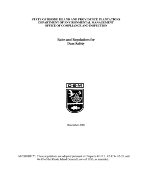 Fillable Online dem ri RI DEM /Compliance and Inspection